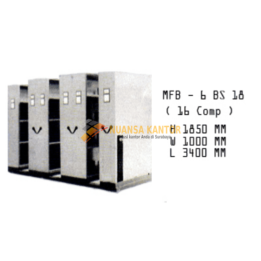 Mobile File Brother MFB – 6 BS 18 (24 Compartments)