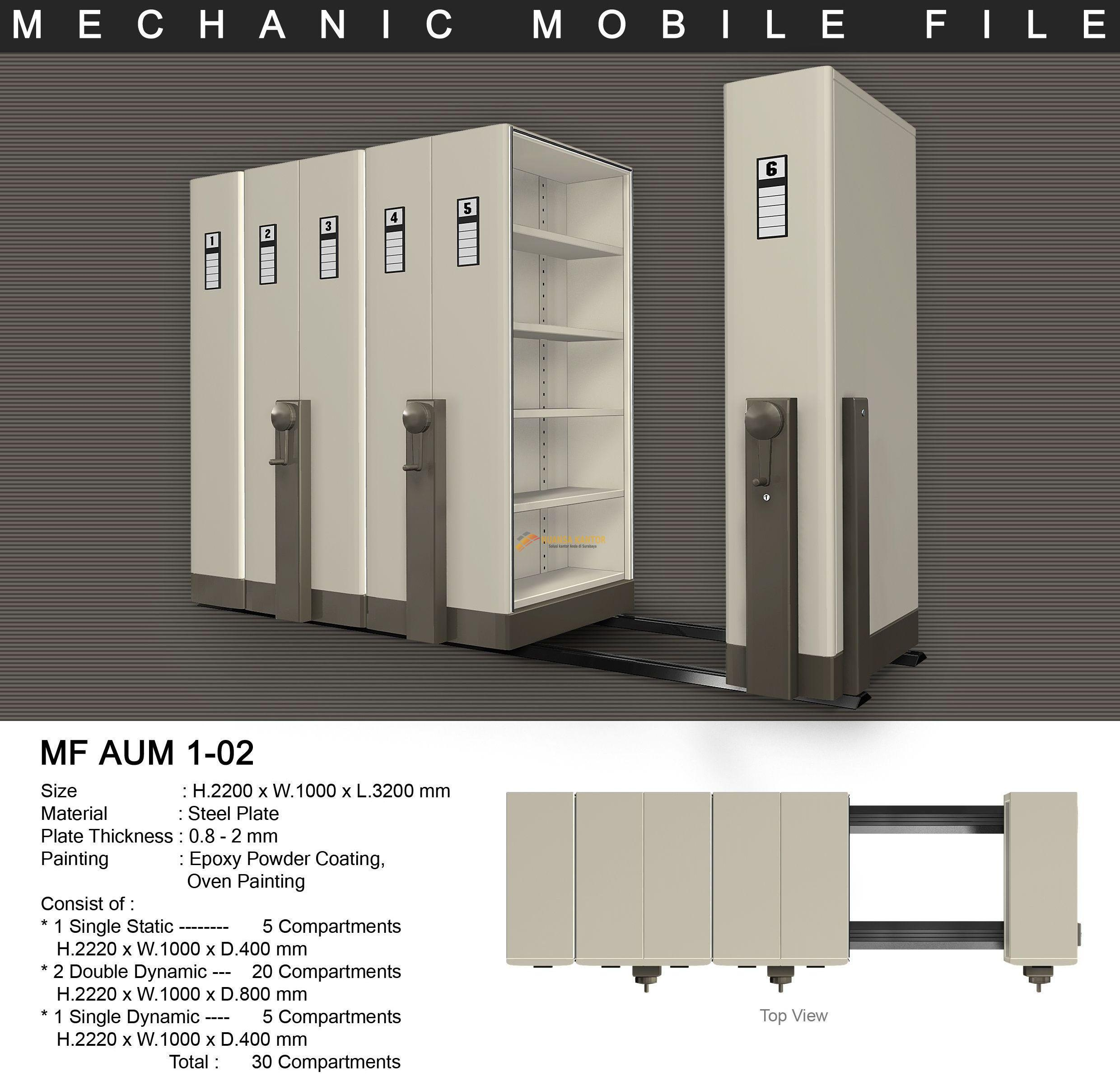 Mobile File Alba Mekanik MF 1-02 ( 30 Compartments )