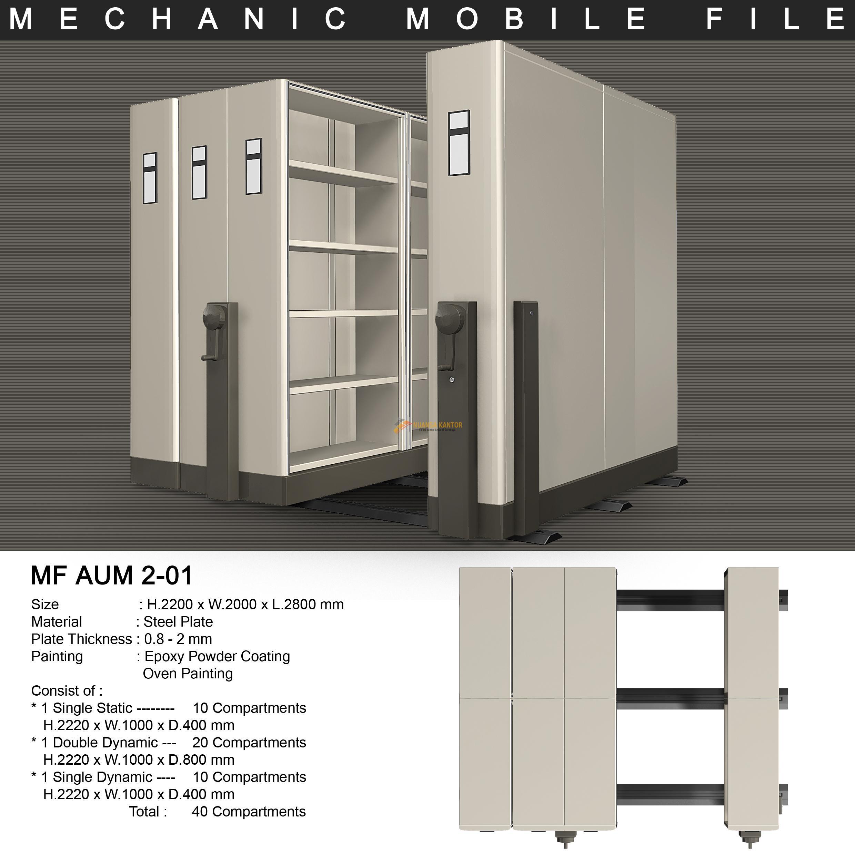 Mobile File Alba Mekanik MF AUM 2-01 ( 40 Compartments )