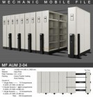 Mobile File Alba Mekanik MF AUM 2-04 ( 100 Compartments )