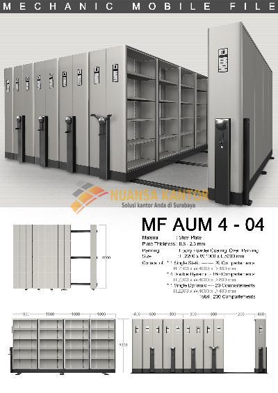 Mobile File Alba Mekanik MF Aum 4-04 ( 200 Compartments )